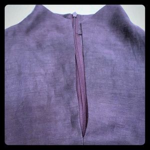 Dana Buchman LUXE plum colored blouse